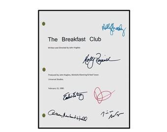 The Breakfast Club Signed Movie Script Rpt.  Emilo Estevez, Molly Ringwald, Judd Nelson, Ally Sheedy, Anthony Michael Hall