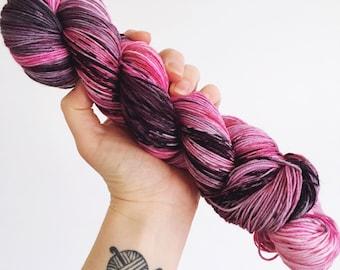 Stormy Romance - Hand dyed 4ply/sock yarn 100g/425m superwash merino, nylon blend