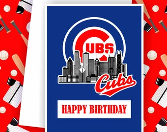 Cubs - Chicago Cubs Fan, Baseball Team Card,  Baseball Greeting Card