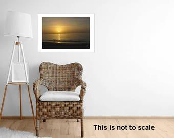 Framed Bahamas Sunset Sand Beach Photography Ocean Beach Sunset Romantic Caribbean Bahamas Coast Home Decor Gift Idea