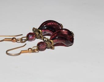 Earrings glass Twist beads