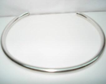 Sterling Silver Collar Choker Necklace