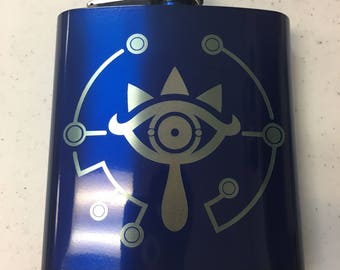 Sheikah Flask-Blue and Camouflage