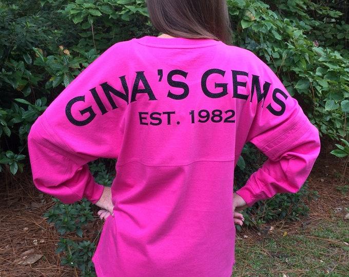 Monogram Sweatshirt, Monogrammed Pullover, Cheer Warm Ups, Team Jersey, Custom Pullover, Jersey, Pom Pom Pullover