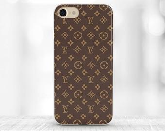 Louis Vuitton Iphone 7 Case Louis Vuitton Case iPhone 6S Case Brown Logo Louis Vuitton iPhone 7 plus Case Louis Vuitton accessories LV gift