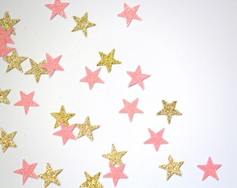 Gold Star Confetti Pink/Gold Stars Confetti Baby Shower Stars/Birthday/Graduation Party/Twinkle twinkle little star Confetti Black/Champagne