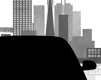 Behind the Wheel: A Lyft Driver's Log (Digital PDF & ePub Download)