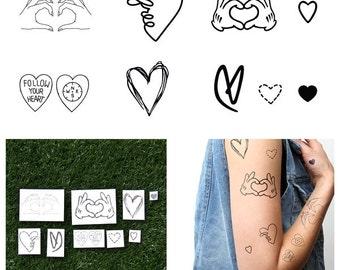 Sparks Set - Temporary Tattoo  (Set of 18)
