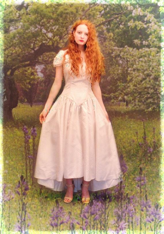 Fugarse de la boda vestido de novia vintage en color marfil