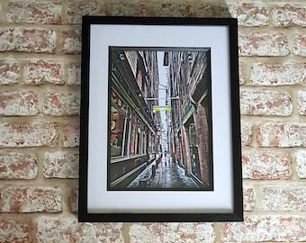 Glasgow Lighthouse,Charles Rennie Mackintosh, Glasgow street art, Alley way, Urban photography, Down the lane, A4 or A3  framed print