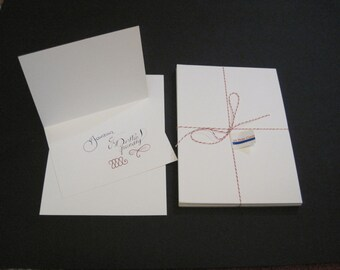 30 Blank Note Cards -- Heavy Weight
