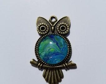 Vintage Brass Owl Pendant