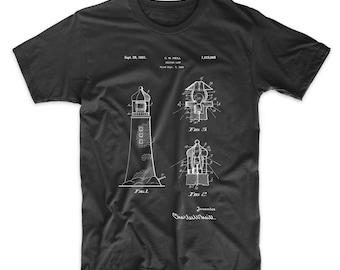 Lighthouse Patent T Shirt, Lighthouse Shirt, New England Shirt, Seaside Shirt, Maine Shirt, PP0941