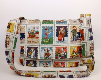 Cartas Marcadas Folklorico Messenger Bag / Laptop Bag/ Fits Macbook
