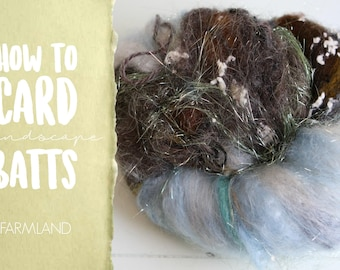 How to Card FARMLAND Art Batt on a Drum Carder - One Technique from Carding Landscapes Masterclass
