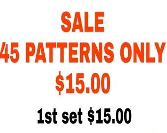 Crochet Patterns 45 Patterns DIGITAL DOWNLOAD ONLY Crochet Pattern Sale