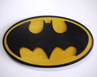 Wooden Batman Symbol