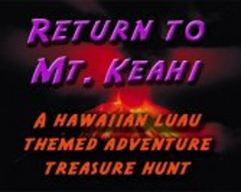 Hawaiian Luau Themed Treasure Hunt