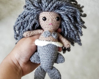 Merfolk Doll, Mersharkette Crochet Doll