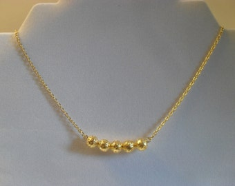 Gold-plated Filigree Ball Necklace
