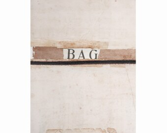 """Montage, collage, assemblage Title:'BAG"""""""