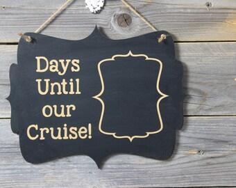 chalkboard, sign, hanging sign, hanging chalkboard,crusie, days until,cruise countdown,vacation
