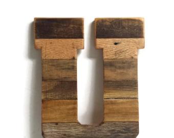 "10"" wooden letter, rustic pallet letter, nursery decor, rustic home decor, choice wood letter, alphabet letter, reclaimed wood letter"