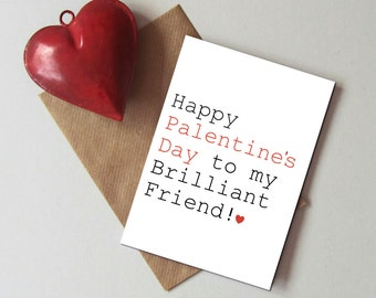 Palentine's day card - Valentine card for friend - Valentine card for single friend - Funny Valentine's day card -  Single friend Valentine