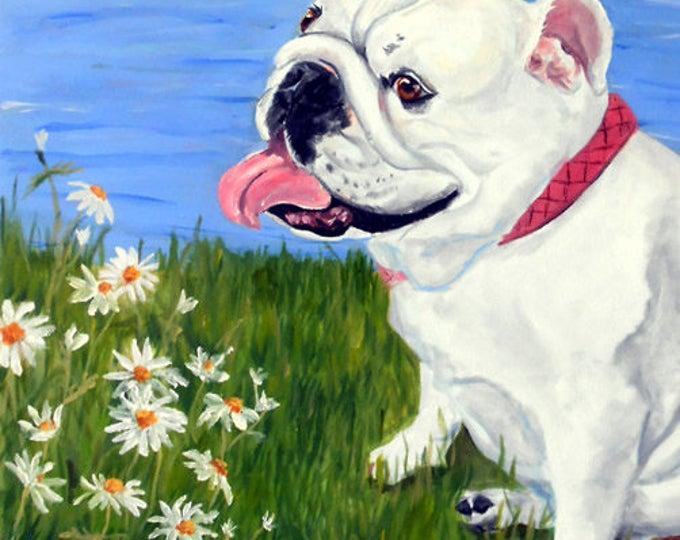 English Bulldog Art, Print of an Original Oil Painting