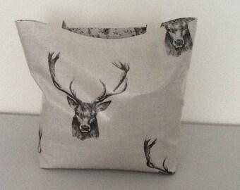Oilcloth tote bag / shopper