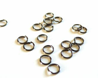 Black metalgun rings round 7 mm - 20