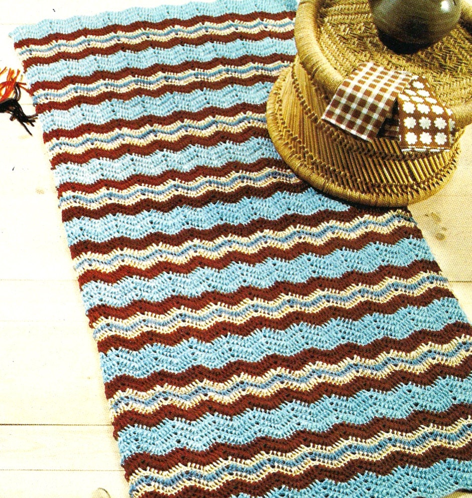 Crochet A Scatter Rug! Crochet Pattern For Zig-Zag