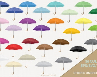 Stripe Umbrella Vector, Striped Umbrellas Clipart, Rain Clip art, Spring SVG, Umbrella PNG  (Design 13761)