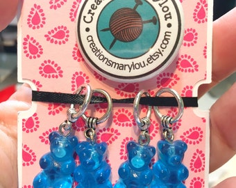 4 cute gummy bears Stitch markers