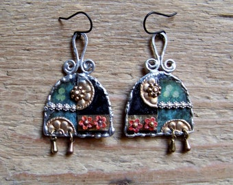 Recycled  tin earrings    * 15