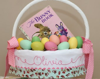 Personalized Easter Basket, Easter Basket Liner, Monogrammed Easter Basket fits Pottery Barn Kids Sabrina Baskets Small Large