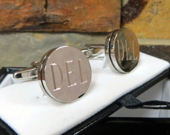 Personalized Cuff Links- Engraved - Monogrammed - Groomsman Gifts- Men's Gifts (797)