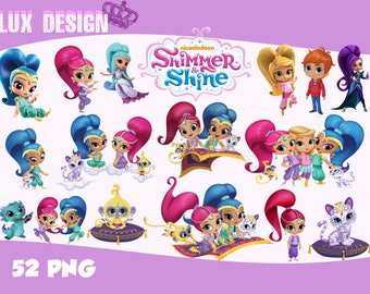 52 Shimmer and Shine ClipArt- PNG Images 300dpi Digital, Clip Art, Instant Download, Graphics transparent background Scrapbook