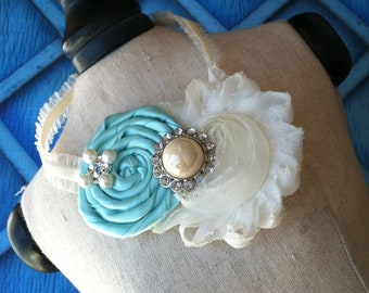 flower girl headband / baptism headband- you design