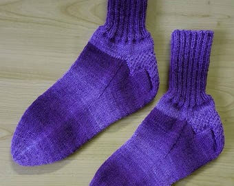 Hand-knitted socks - greetings 38/39