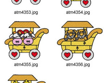 Noahs-Ark-Train-2 ( 5 Machine Embroidery Designs from ATW ) XYZ17D