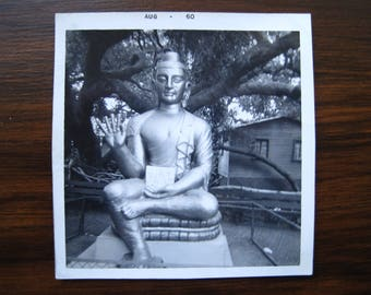 Zen Buddha... 1960's Vintage Photo... Original Vintage Snapshot Photograph