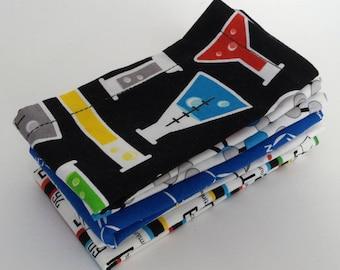 Kids Cloth Napkin Set of 5 // Scientist // Lunchbox Napkins // Kids Handkerchief // Party Favor // Stocking Stuffer // Gift for Kids