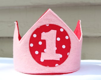 Felt Crown for Birthday or Dress Up - personalized/customized