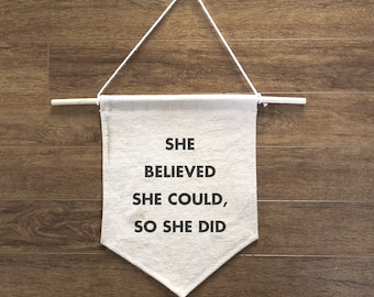 SHE Believed She Could So She Did - Inspiration banner
