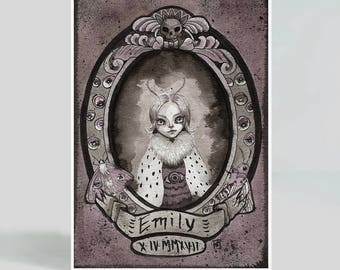 Emily - 5X7 inches Art Print - Mab's Drawlloween Club Day 5