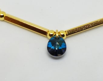 Swarovski Bermuda Blue Bracelet - Gold Plated Sterling Silver with Swarovski Crystal