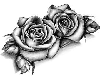 Sets Roses temporary tattoos
