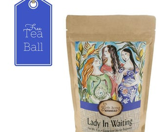 Organic Herbal Pregnancy Tea -Loose Leaf 4oz. With Red Raspberry Leaf and Nettle from Birth Song Botanicals- Free Natural Pregnancy Ebook!