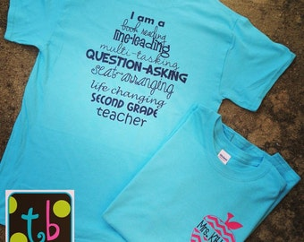 Personalized Monogram Teacher Quote Tees Teacher T-Shirt